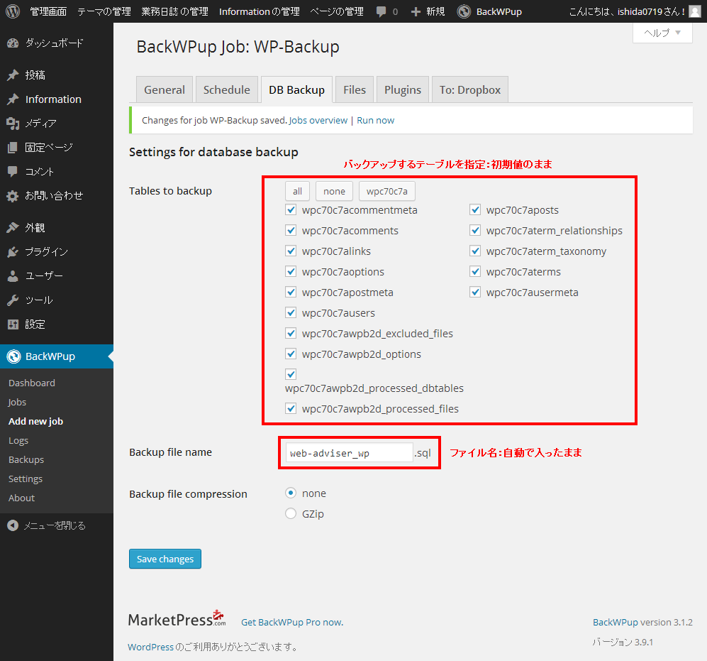 03_WordPress: DB Backup