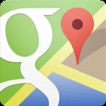 Google マップ:検索窓を非表示にする。